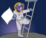 Astronautenflagge lizenzfreie stockbilder