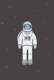 Astronautenfliegen im Raum Lizenzfreie Stockfotos