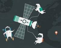 Astronautenillustratie Vector Illustratie
