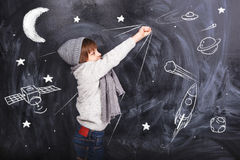 Astronautenjongen Stock Afbeelding