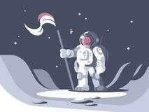 Astronautenkarakter in spacesuit vector illustratie