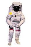 Astronautenklage auf weißem Hintergrund Lizenzfreies Stockfoto