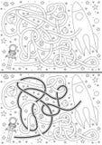 Astronautenlabyrint royalty-vrije illustratie