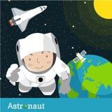 Astronautenraumfahrer Stockfotografie
