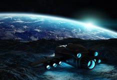 Astronautes explorant les éléments en forme d'étoile d'un rendu 3D de ceci I illustration stock