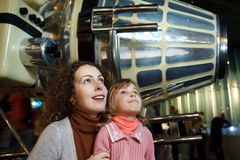 In an astronautics museum Royalty Free Stock Photos