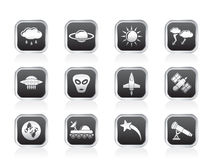 Astronautics and Space and universe Icons Stock Photo
