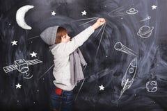 Astronautpojke Fotografering för Bildbyråer