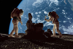 The astronauts Royalty Free Stock Photo
