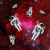Astronauts Galaxy Space Royalty Free Stock Photo