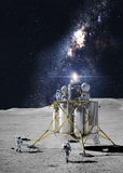 Astronauts on the moon Stock Photography