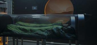 Free Astronauts Sleeping In Glass Capsules Stock Photo - 160668650