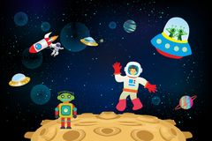 Astronauts in space Royalty Free Stock Photography