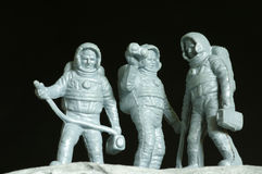Astronauts toy plastic. Astronauts plastic toys objects outer space Stock Photo