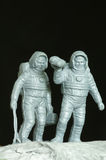 Astronauts toys plastic Royalty Free Stock Photo