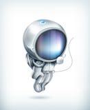 Astronautsymbol Arkivbild