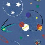 Astronautyczna bezszwowa ilustracja Zdjęcia Royalty Free