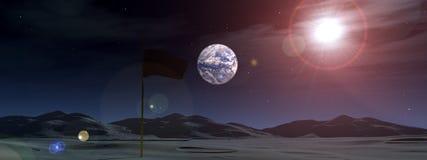Astronautyczna Flaga 7 royalty ilustracja