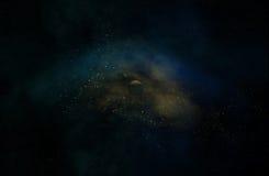 Astronautyczna galaktyka z planetami Obraz Stock