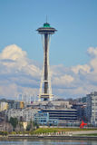 Astronautyczna igła od WSDOT promu, Seattle, Waszyngton Obraz Stock