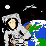 astronautyczna kobieta Royalty Ilustracja
