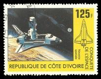 Astronautyczna konkieta, Kolumbia Astronautyczny wahadłowiec fotografia royalty free
