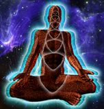 Astronautyczna medytacja ilustracji