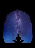 Astronautyczna medytacja Zdjęcia Royalty Free