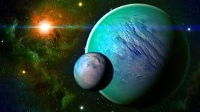 Astronautyczna planeta Obraz Royalty Free