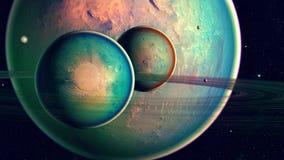 Astronautyczna planeta zdjęcia royalty free