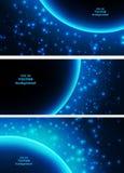Astronautyczna planeta w promieniach światło Zdjęcia Royalty Free