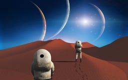 Astronautyczna podróż ilustracji