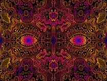 Astronautyczna psychodeliczna trippy abstrakcjonistyczna tekstura, jaskrawa menchia, elektryczny błękit, pomarańczowy gradientowy ilustracja wektor