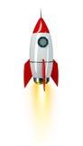 Astronautyczna rakieta na bielu ilustracji
