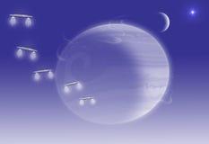 Astronautyczna scena Zdjęcia Royalty Free