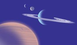 Astronautyczna scena Zdjęcie Stock