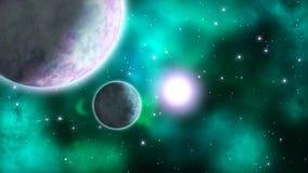 Astronautyczna scena pętla ilustracja wektor