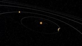 Astronautyczna układ słoneczny animacja royalty ilustracja