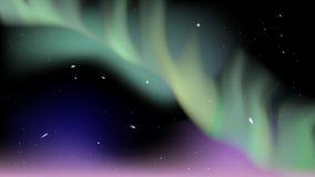Astronautyczna zorza Zdjęcia Royalty Free