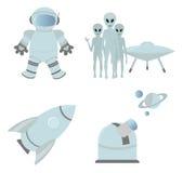 Astronautyczne ikony Fotografia Stock