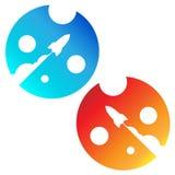 Astronautyczne rakiety biznesowe zaczynają up Zdjęcie Stock