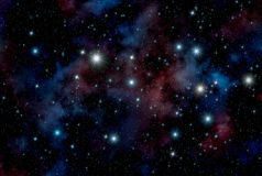 astronautyczne tło gwiazdy royalty ilustracja