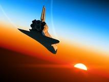Astronautycznego wahadłowa lądowanie. Obrazy Royalty Free