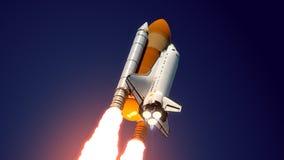 Astronautycznego wahadłowa wodowanie royalty ilustracja