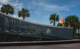 Astronautycznego wahadłowa Atlantis eksponat przy NASA centrum lotów kosmicznych imienia johna f. kennedyego Obrazy Stock
