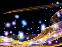 Astronautycznej abstrakcjonistycznej fantazi błyskotania jaskrawy tło Obraz Royalty Free