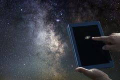 Astronautycznej astronomii eksploraci pojęcie Saturn planety pastylka Zdjęcie Stock