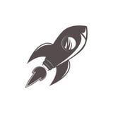 Astronautycznej rakiety statku ikona Zdjęcia Royalty Free