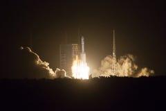 Astronautycznej rakiety wszczynać Obraz Royalty Free