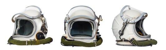 Astronautyczni hełmy zdjęcia stock